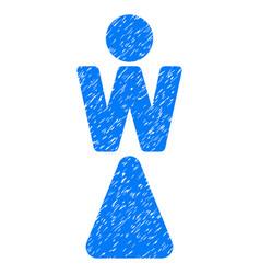 woman grunge icon vector image