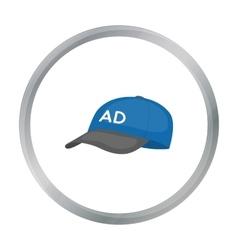 Baseball cap advertising icon in cartoon style vector image