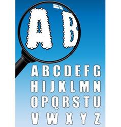 cloud alphabet vector image
