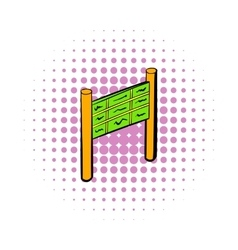 Departure timetable at the airport icon vector image
