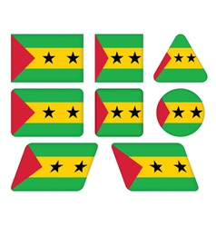 flag of Sao Tome and Principe vector image vector image