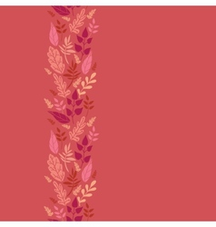 Red Leaves Vertical Seamless Pattern Background vector image vector image