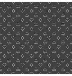 Simple casino pattern vector