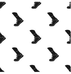 sneakers icon in black style isolated on white vector image