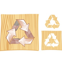 wood recycle vector image vector image