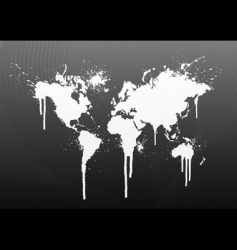 world map splatter vector image