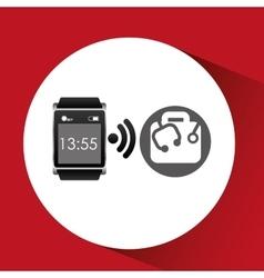 digital smartwatch healthcare icon design vector image