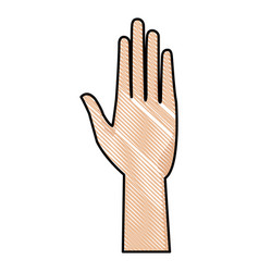 Drawing human hand health care medical design vector