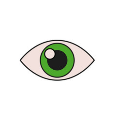 human eye vision optical look design vector image vector image