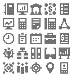 Teamwork organization icons 3 vector