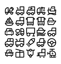 Transport Icons 9 vector image vector image