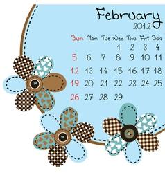 2012 february calendar vector image vector image