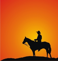 Cowboy silhouettes vector