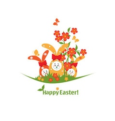 Easter with bunnies vector image