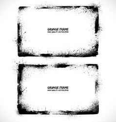 Grunge textured frames vector image