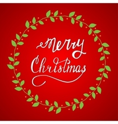 Hand drawn Lettering Merry Christmas vector image