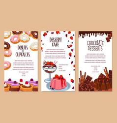 poster template for bakery shop desserts vector image vector image
