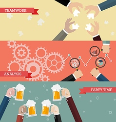 Process of business teamwork vector image vector image