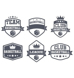 Set of Vintage Basketball Club Badge and Label vector image vector image