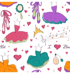tutu dress and accessories vector image vector image