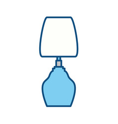 bedside lamp silhouette vector image vector image