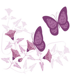 butterflies and flowers 21 vector image