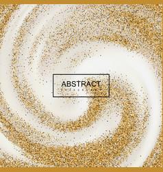 golden confetti glitters on creamy swirling vector image