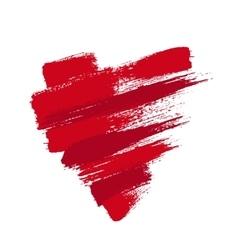 Grunge Heart from Brush Strokes vector image