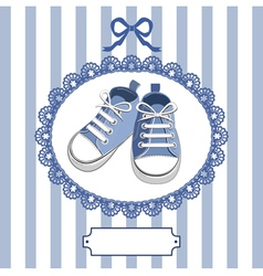 shoes and frame vector image vector image