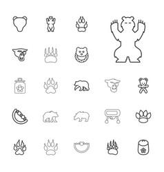 22 bear icons vector