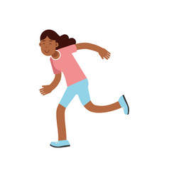 active teen girl running active lifestyle vector image