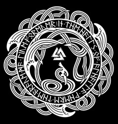Ancient celtic scandinavian pattern scandinavian vector