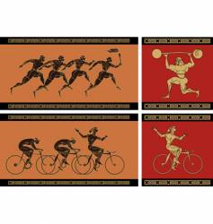 Ancient greek sport vector