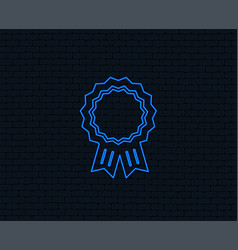 award medal icon best guarantee symbol vector image