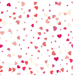 Background with different colored confetti hearts vector