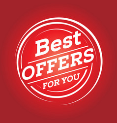 Best offers for you vector