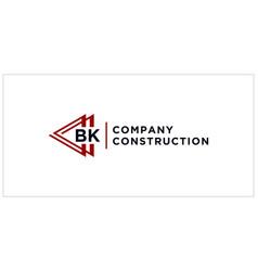 Bk triangle connect logo design vector