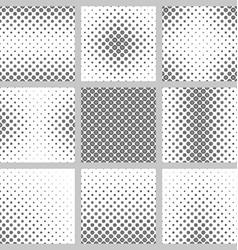 Black and white circle pattern set vector image