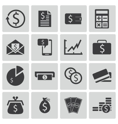 black money icons set vector image