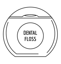 box floss icon outline style vector image