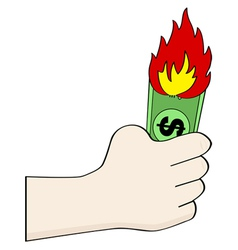 Burning money vector