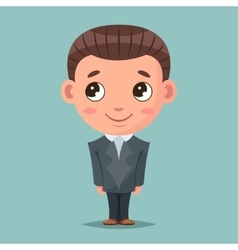 Business mascot good boy ready for job cartoon vector image