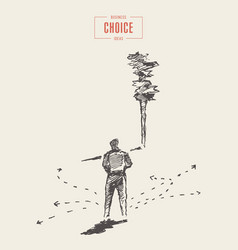 Businessman choose right decision concept vector