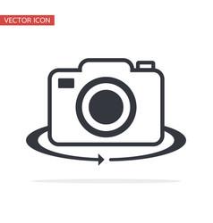 camera symbol switch icon flat style vector image