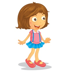 Cartoon Young Girl vector image