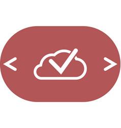 Cloud select icon cloud click symbol vector