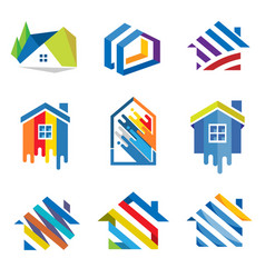 colorful house concept vector image