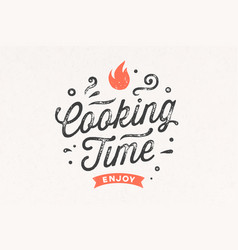 cooking time kitchen poster kitchen wall decor vector image