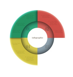 Creative round design template for infographics vector
