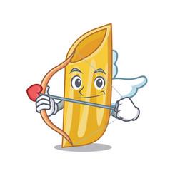 Cupid penne pasta character cartoon vector